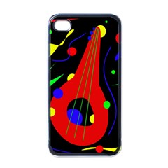 Abstract Guitar  Apple Iphone 4 Case (black) by Valentinaart
