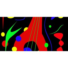 Abstract Guitar  You Are Invited 3d Greeting Card (8x4)  by Valentinaart