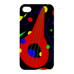Abstract Guitar  Apple Iphone 4/4s Hardshell Case by Valentinaart