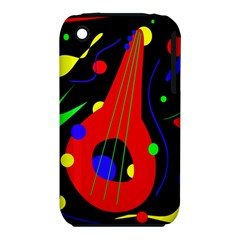 Abstract Guitar  Apple Iphone 3g/3gs Hardshell Case (pc+silicone) by Valentinaart
