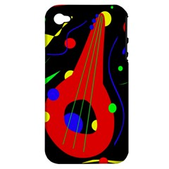 Abstract Guitar  Apple Iphone 4/4s Hardshell Case (pc+silicone) by Valentinaart