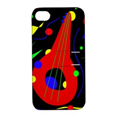 Abstract Guitar  Apple Iphone 4/4s Hardshell Case With Stand by Valentinaart