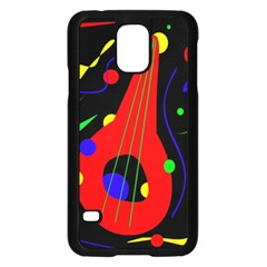 Abstract Guitar  Samsung Galaxy S5 Case (black) by Valentinaart