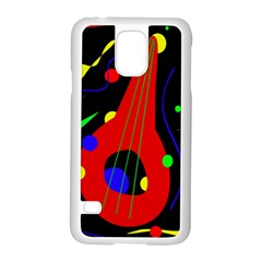 Abstract Guitar  Samsung Galaxy S5 Case (white) by Valentinaart