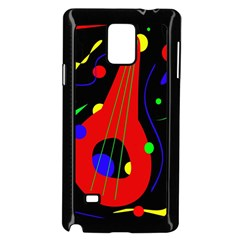 Abstract Guitar  Samsung Galaxy Note 4 Case (black) by Valentinaart