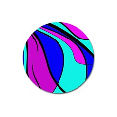 Purple And Blue Magnet 3  (round) by Valentinaart