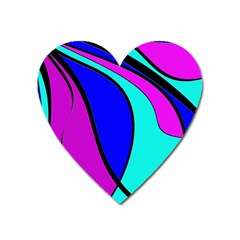 Purple And Blue Heart Magnet by Valentinaart