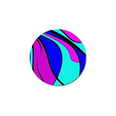 Purple And Blue Golf Ball Marker by Valentinaart