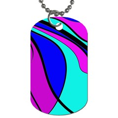 Purple And Blue Dog Tag (two Sides) by Valentinaart