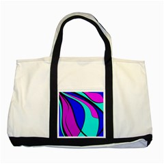 Purple And Blue Two Tone Tote Bag by Valentinaart