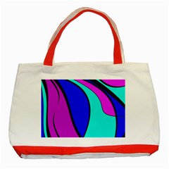 Purple And Blue Classic Tote Bag (red) by Valentinaart