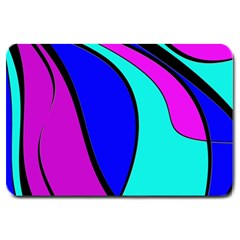 Purple And Blue Large Doormat  by Valentinaart