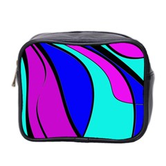 Purple And Blue Mini Toiletries Bag 2 Side by Valentinaart