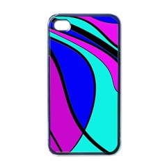 Purple And Blue Apple Iphone 4 Case (black) by Valentinaart