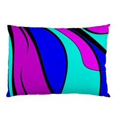 Purple And Blue Pillow Case (two Sides) by Valentinaart