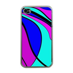 Purple And Blue Apple Iphone 4 Case (clear) by Valentinaart