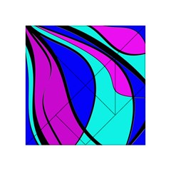 Purple And Blue Acrylic Tangram Puzzle (4  X 4 ) by Valentinaart