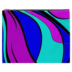 Purple And Blue Cosmetic Bag (xxxl)  by Valentinaart
