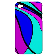 Purple And Blue Apple Iphone 4/4s Hardshell Case (pc+silicone) by Valentinaart