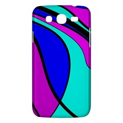 Purple And Blue Samsung Galaxy Mega 5 8 I9152 Hardshell Case  by Valentinaart