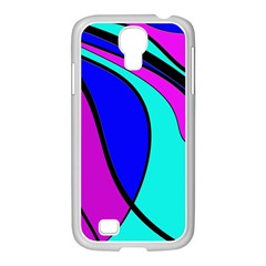 Purple And Blue Samsung Galaxy S4 I9500/ I9505 Case (white) by Valentinaart