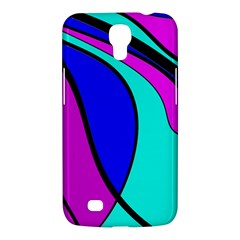 Purple And Blue Samsung Galaxy Mega 6 3  I9200 Hardshell Case by Valentinaart