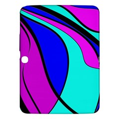 Purple And Blue Samsung Galaxy Tab 3 (10 1 ) P5200 Hardshell Case  by Valentinaart