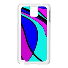 Purple And Blue Samsung Galaxy Note 3 N9005 Case (white) by Valentinaart
