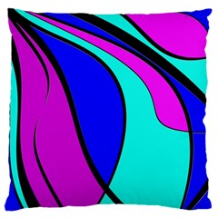 Purple And Blue Large Flano Cushion Case (two Sides) by Valentinaart