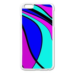 Purple And Blue Apple Iphone 6 Plus/6s Plus Enamel White Case by Valentinaart
