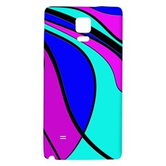Purple And Blue Galaxy Note 4 Back Case by Valentinaart