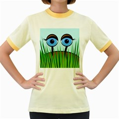 Snail Women s Fitted Ringer T Shirts by Valentinaart