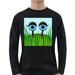 Snail Long Sleeve Dark T-shirts by Valentinaart