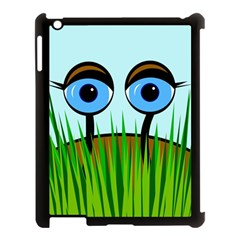 Snail Apple Ipad 3/4 Case (black) by Valentinaart