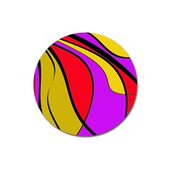 Colorful Lines Magnet 3  (round) by Valentinaart