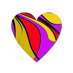 Colorful Lines Heart Magnet by Valentinaart