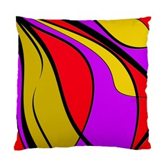 Colorful Lines Standard Cushion Case (one Side) by Valentinaart