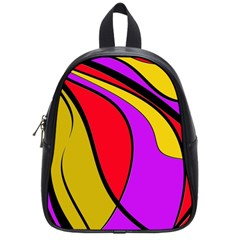 Colorful Lines School Bags (small)  by Valentinaart