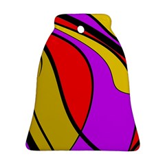 Colorful Lines Bell Ornament (2 Sides) by Valentinaart
