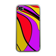 Colorful Lines Apple Iphone 4 Case (clear) by Valentinaart