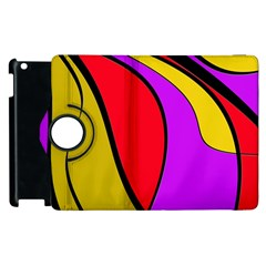 Colorful Lines Apple Ipad 2 Flip 360 Case by Valentinaart