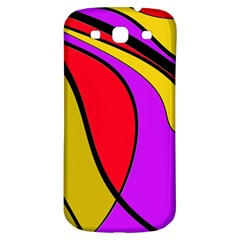 Colorful Lines Samsung Galaxy S3 S Iii Classic Hardshell Back Case by Valentinaart