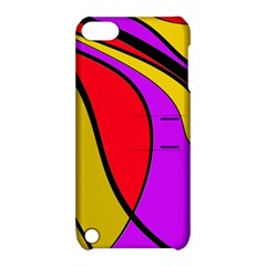 Colorful Lines Apple Ipod Touch 5 Hardshell Case With Stand by Valentinaart