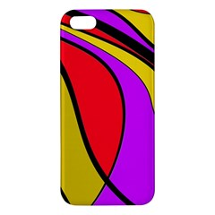 Colorful Lines Apple Iphone 5 Premium Hardshell Case by Valentinaart