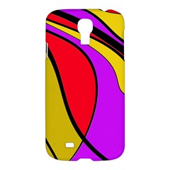 Colorful Lines Samsung Galaxy S4 I9500/i9505 Hardshell Case by Valentinaart
