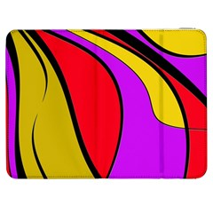 Colorful Lines Samsung Galaxy Tab 7  P1000 Flip Case by Valentinaart