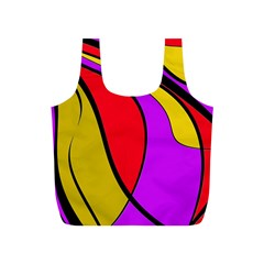 Colorful Lines Full Print Recycle Bags (s)  by Valentinaart