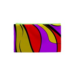 Colorful Lines Cosmetic Bag (xs) by Valentinaart