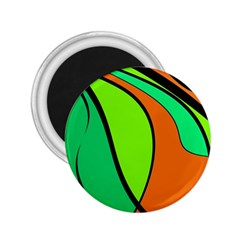 Green And Orange 2 25  Magnets by Valentinaart