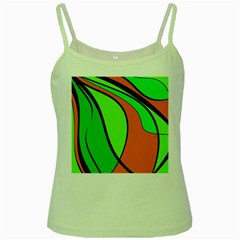 Green And Orange Green Spaghetti Tank by Valentinaart